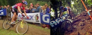 Thomas Frischknecht circa 1996 and Julien Absalon 2014. Even in these pictures you can see the difference in bikes.