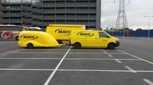 Mavic had a big presence at the show and this might be the coolest trailer I've ever seen!
