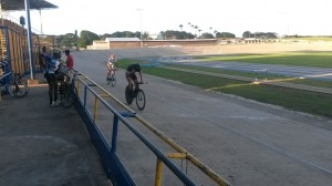 Two of the rising stars of Barbados cycling at one of Coach Santos' regular training sessions.