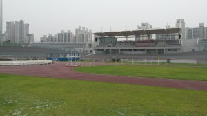 Incheon track-right in the heart of the city as you can see from the buildings in the background.