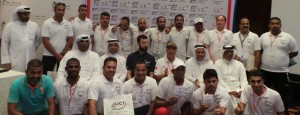The group of coaches and a few of the Bahrain Cycling Federation officials.